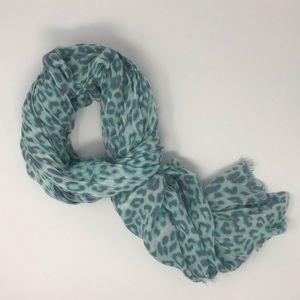 Express Blue Leopard Scarf